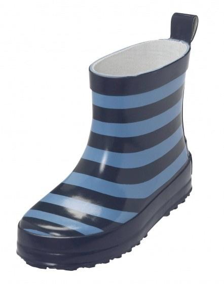 Playshoes korte regenlaarzen gestreept blauw maat 22