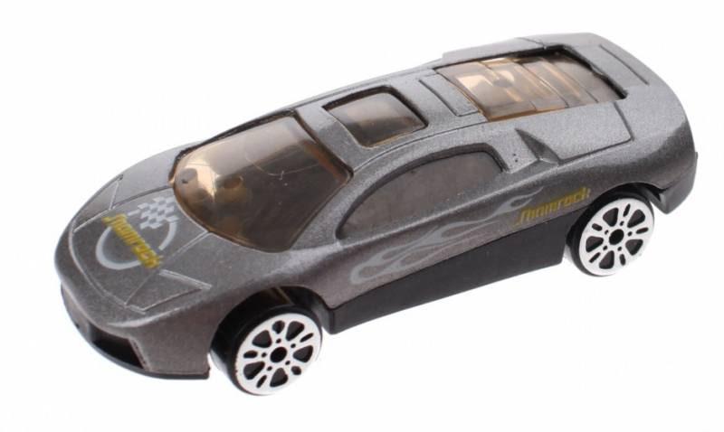 Johntoy schaalmodel Super Cars die cast 7 cm grijs