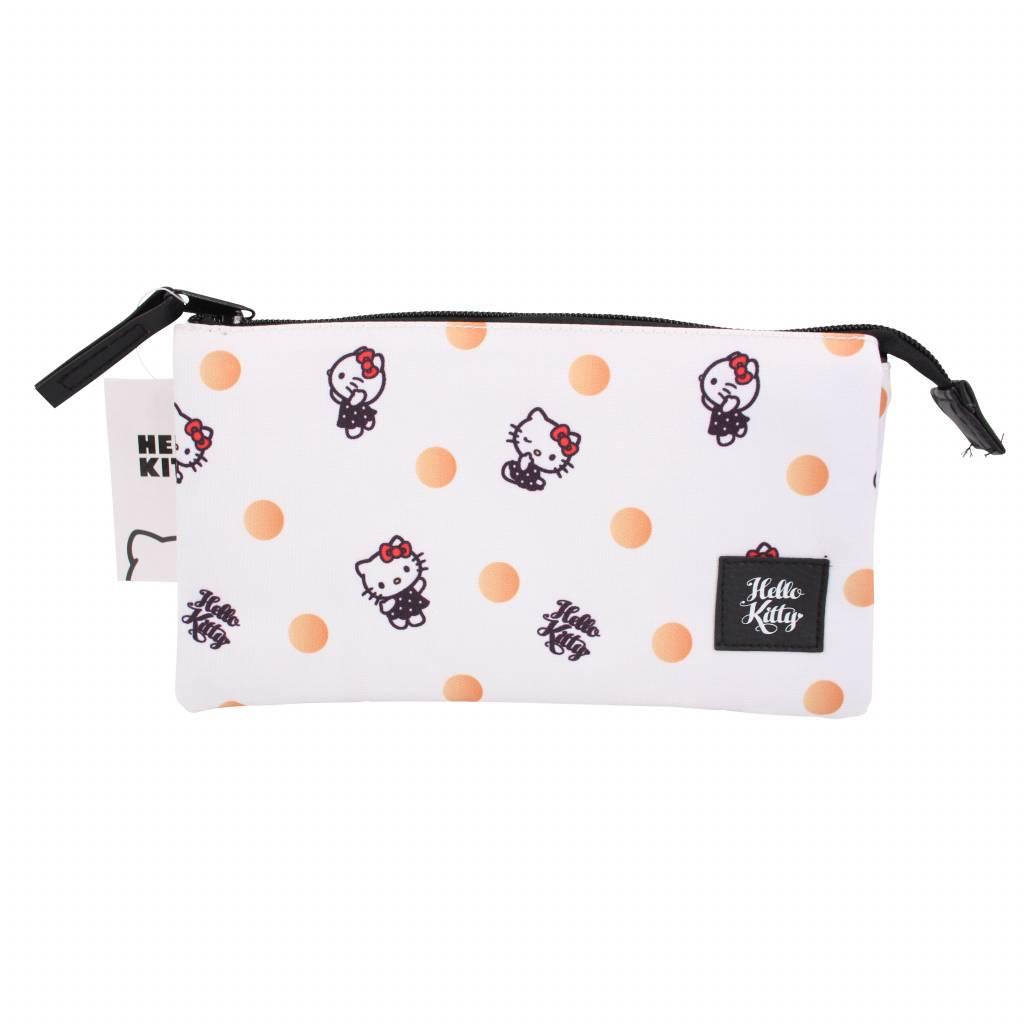 Bulck   De nr. 1 cadeau website   Hello Kitty Hello Kitty drievoudige etui - Polka Dots