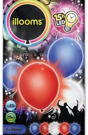 Illooms led ballonnen Red