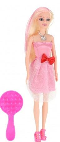 Toi Toys Tienerpop Lauren lang haar met roze pluk 29 cm