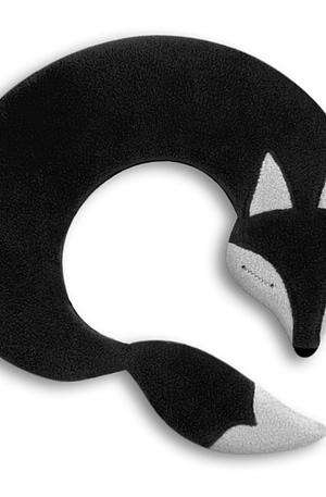 Leschi Noah The Fox Verwarmd Nekkussen - Zwart - Leschi