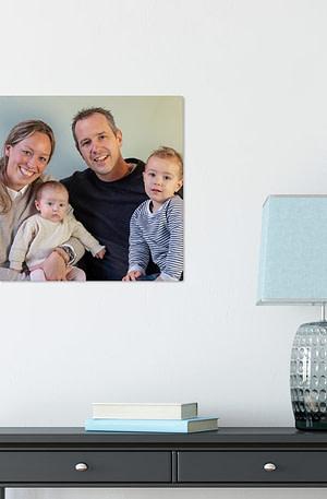 Foto op aluminium afdrukken - Wit (ChromaLuxe) - 40 x 40 cm