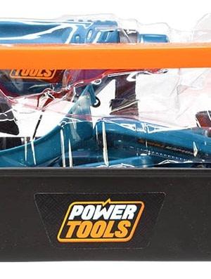 Toi Toys gereedschapskist Power Tools 22 delig blauw
