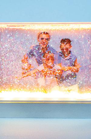 Lichtgevend Fotolijstje Met Glitters