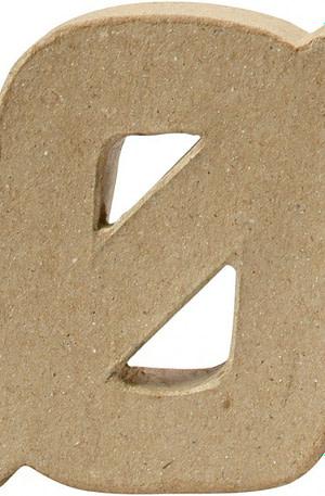 Creotime papier mâché letter Ø 10 cm