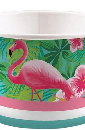Amscan ijsbekers flamingo 270 ml 8 stuks