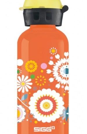 Sigg drinkbeker bloemen 400 ml oranje