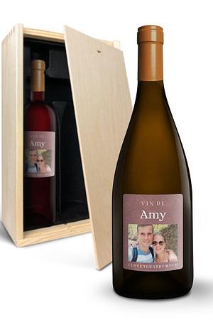 Wijnpakket met bedrukt etiket - Salentein Primus - Malbec en Chardonnay