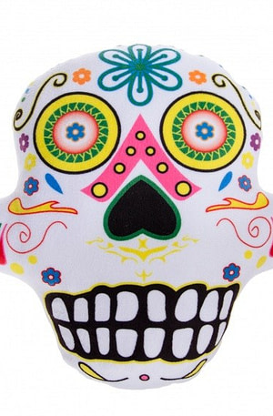 LG Imports kussen Day Of Dead 28 cm wit
