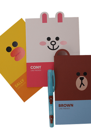 Bulck | De nr. 1 cadeau website | LINE FRIENDS Line Friends A6 notitieboek set