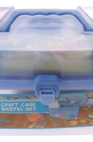 Eddy Toys knutselkist blauw 23 x 13 x 15 cm 127 delig