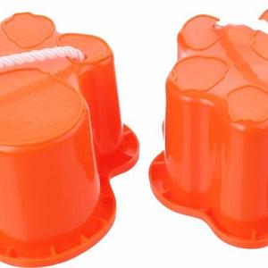 Playfun tijgerpoot loopklossen oranje 12 x 12 x 8 cm