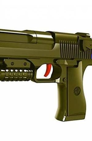Toi Toys Black Series handgeweer met munitie 25 cm groen