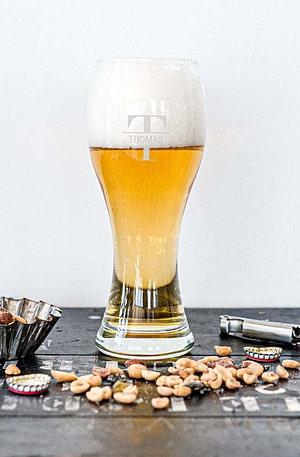 Bierglas graveren (6 stuks)