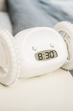 Rijdende Wekker - Wit
