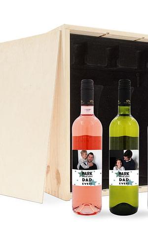Vaderdag wijnpakket met bedrukt etiket - Merlot