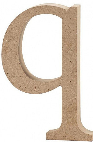 Creative letter q MDF 12
