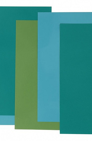 Efco decoratiefolie blauw/groen 10 x 20 cm 5 stuks