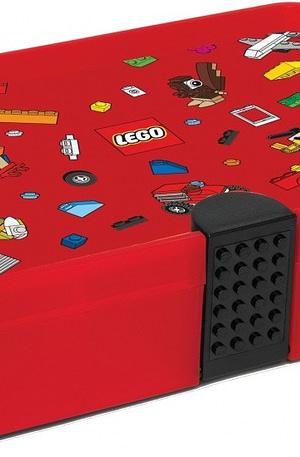 LEGO sorteerkoffer 27 cm rood