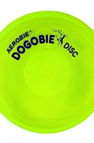 Aerobie Dogobie hondenfrisbee 20 cm geel