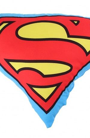 Superman sierkussen 40 x 40 cm blauw/rood