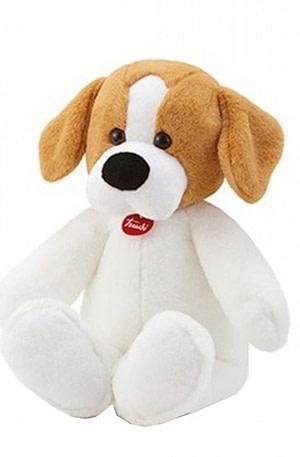 Trudi pluchen knuffelhond Beagle 53 cm wit/bruin