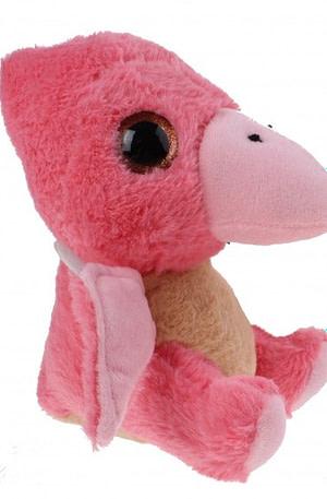 Kamparo dinoknuffel sparkle eye roze 19 cm