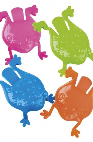 Boland jumping frogs kikkers 4 delig 8 cm