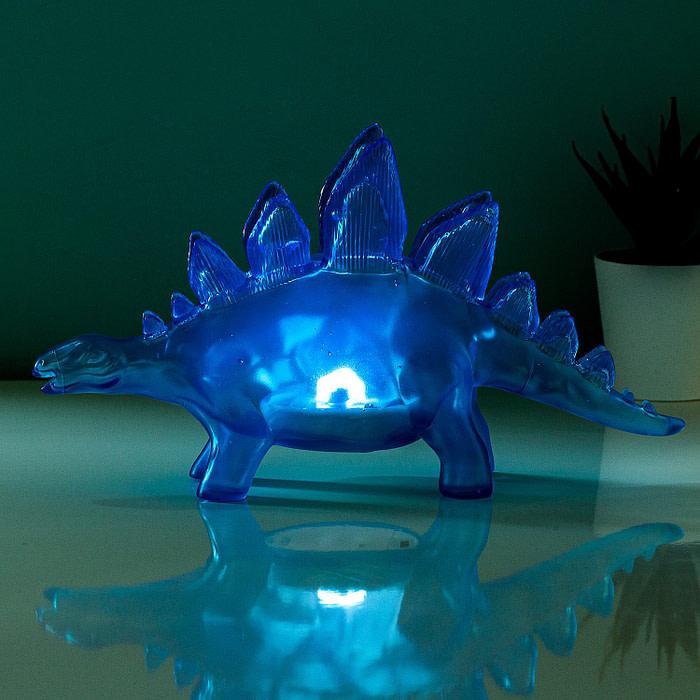 Jelly Dinosaurus Lamp - Blauw - Fizz