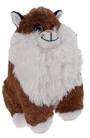 Kamparo knuffelkat sparkle eyes 23 cm bruin