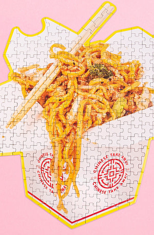 Dubbelzijdige Take-Away Food Puzzel - Chinees Eten