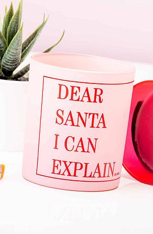 Dear Santa I Can Explain Kaars
