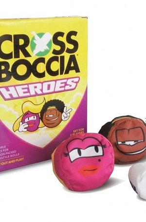 Crossboccia Heroes Blond & Muffin 7 delig roze/bruin