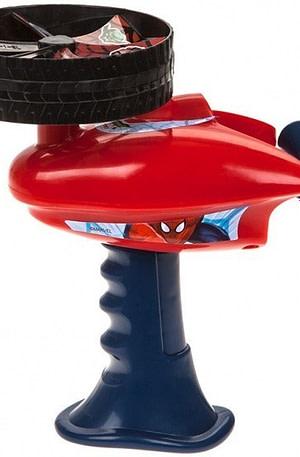 Kamparo lanceerdisk Spider Man 9 cm rood/blauw