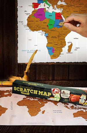 BULCK - Nr. 1 cadeau website | Scratch Map - Wereld Kraskaart - 88 cm