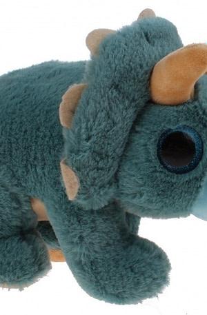 Kamparo dinoknuffel sparkle eye blauw 19 cm