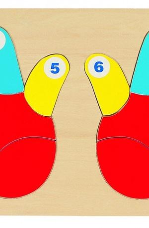 Goki Puzzel Vingers Tellen 14 Delig