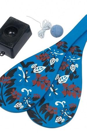 Eddy Toys jokari set blauw/zwart 4 delig
