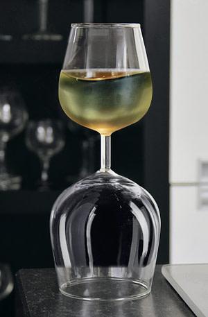 BULCK - Nr. 1 cadeau website | Omkeerbaar Wijnglas - Rood/Wit