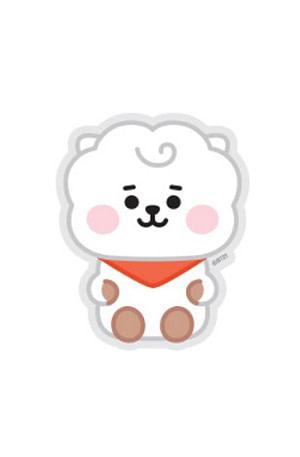 Bulck | De nr. 1 cadeau website | BT21 BT21 Baby Sticker - RJ (Zittend)