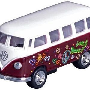 Goki Metalen Volkswagen Klassieke Bus: Bruin Met Opdruk