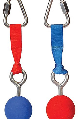 Slackers ninja ballen voor de ninja line 2 stuks rood/blauw