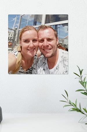Foto op aluminium afdrukken - Wit (ChromaLuxe) - 20 x 20 cm