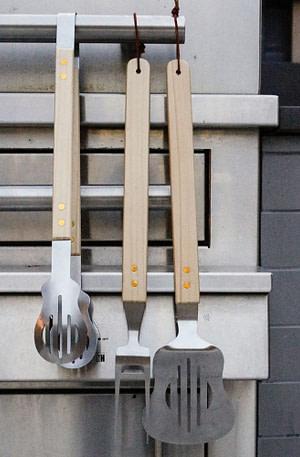 Gitaar Bbq Tools (Set Van 3) - Kikkerland