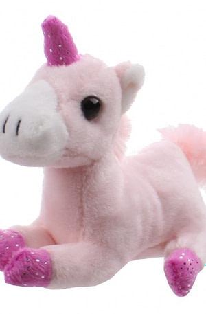 Toi Toys eenhoornknuffel met opbergbench 13 x 8 x 10 cm roze