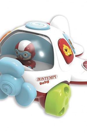 Bontempi baby melodie vliegtuig 21 cm multicolor