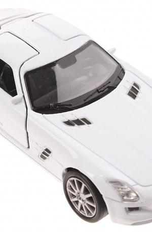 Welly schaalmodel Mercedes SLS AMG wit
